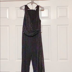 NWT Black and gold jumpsuit